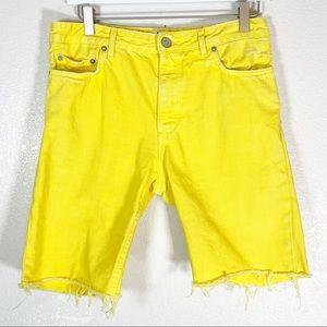 Acne Studios Cut Off Jean Shorts 34
